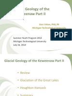 Aspects of Glaciation on the Keweenaw Peninsula, Michigan