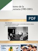 El Retorno de La Democracia (1983-2001)