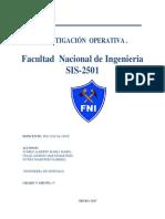 Trabajo de Investigacion Operativa Sis 2510