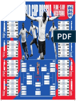 England World Cup Group Table Wall Chart