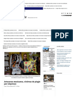 Artesanos Mexicanos, Víctimas de Plagio Por Empresas