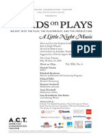 A Little Night Music Words on Plays (2015)