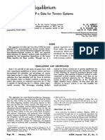 VLE Part IV. Reduction of P‐x Data for Ternary Systems