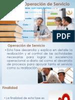Operación de Servicio