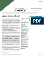 ¿Quién Detiene Al Perú