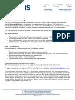 2018 PA Dems Field Fellowship Posting