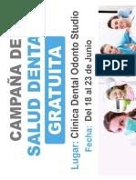 AFICHES COLEGIOS Odonto Studio Campaña Fluor