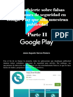 Jesús Augusto Sarcos Romero - ESET Advierte Sobre Falsas Aplicaciones de Seguridad en Google Play Que Sólo Muestran Publicidad, Parte II