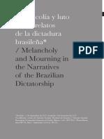 Melancolía y luto en los relatos de la dictadura brasileña