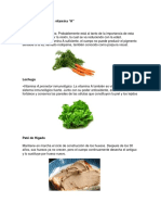 Alimentos Vitamina a b c