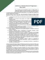 Sistema de Monitoreo y Evaluación de Programas