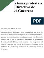 08-06-2017 Astudillo Toma Protesta a Consejo Directivo de Canadevi-Guerrero.