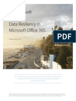 Data Resiliency in Office 365