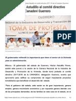 09-06-2017 Toma Protesta Astudillo Al Comité Directivo 2017-18 de La Canadevi Guerrero.