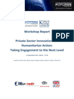 12th September Private Sector Innovation and Humanitarian Action Workshop Report