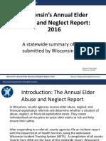 Wisconsin Elder Abuse report