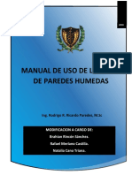 Manual de Uso de La Torre de Paredes Humedas.