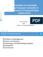 Optimization of survivable optical transport networks in the presence of physical layer impairments