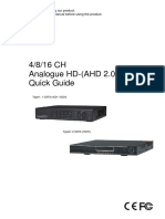 Analogue HD(AHD2.0) DVR_quick Guide