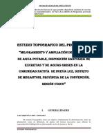 Informe Topografico Nueva Luz