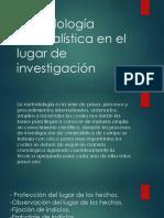 Metodología Criminalística en El Lugar de Investigación