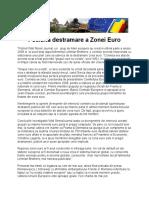 Posibila Destramare a Zonei Euro