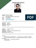 Bahadir Gurer GURKAN CV