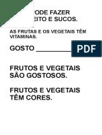 Frases Portugues Frutas Verduras