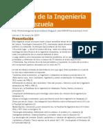 23.- Historia de La Ingeniería en Venezuela
