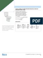 Inodoro Cisterna Baja Victoria