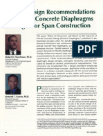 Seismic Design Recommendations for Precast Concrete Diaphragms in Long Floor Span Construction