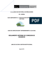 Reglamento Interno CUs