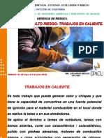 Semana 10. Riesgos I Trabajos en Caliente ( 28 mayo al 3 junio 2018)