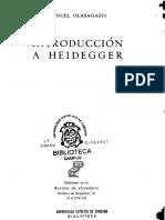 Introducción a Heidegger - Manuel Olasagasti