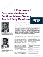 Strength of Prestressed Concrete Members at Sections Where Strands Are Not Fully Developed