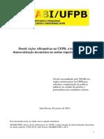 Dossiê Ações Afirmativas 2013 Para Coordenações