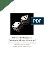 actividad integradora Determinísticos o Aleatorios