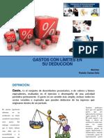 SUSTENTACIÓN - GASTOS CON LIMITE EN SU DEDUCCION.pptx