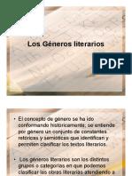 GENEROS LITERRARIOS