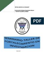 Plan de Fortalecimiento en Iunvestigación