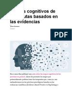 Sesgos Cognitivos de Terapeutas Basados en Las Evidencias