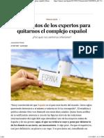 Argumentos de Los Expertos Para Quitarnos El Complejo Español