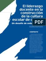 Liderazgo Docente Construccion Cultura