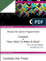GDC11 Gino VanDenBergen Programming PhysicsTutorialContacts