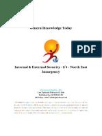 Internal External Security 1 4 North East Insurgency