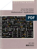 HP 28S MathematicalApplicationsSolutions(1988)