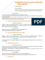 1re S Chimie - TP 09 - Structure et proprits de quelques composs organiques