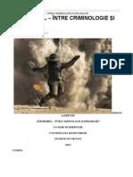Terorismul- Între Criminologie Și Diplomație