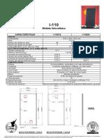Ficha Técnica Módulo Fotovoltaico Isofotón I-110 24V