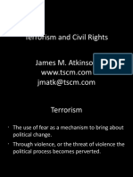 Global War of Terror and Civil Rights